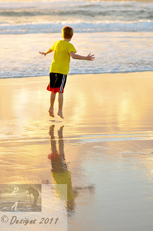 Oh...to be 7 years old and full of wonder.......Byron Bay.